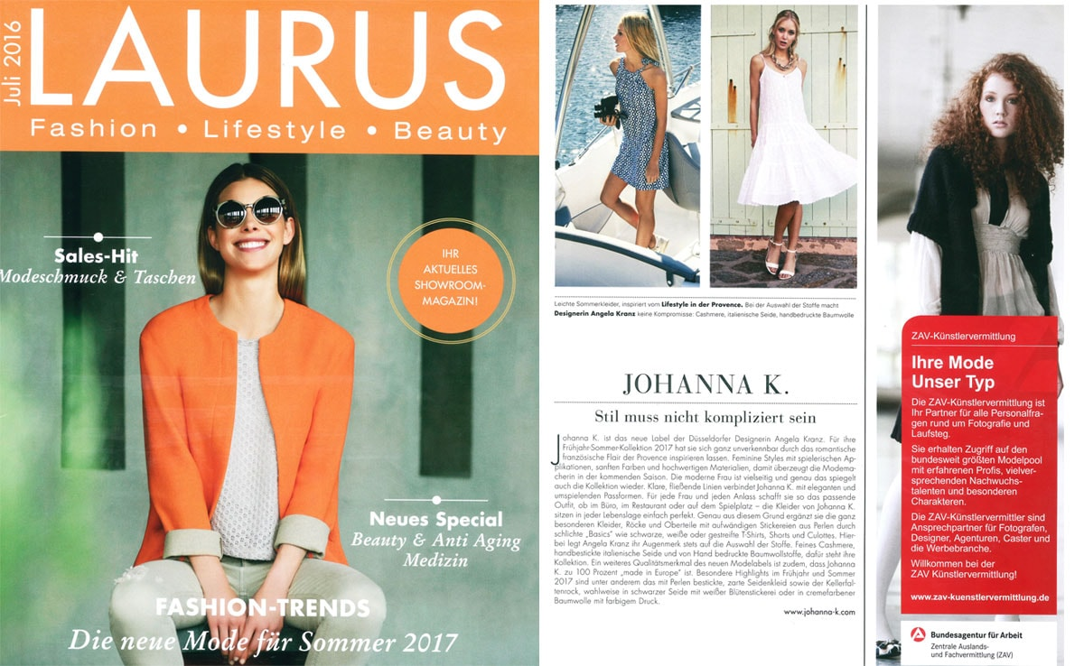 Publication in Laurus Magazine